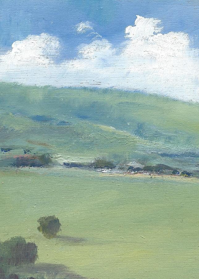 English Landscape Prints Painting - Bembridge Down In Early Summer by Alan Daysh