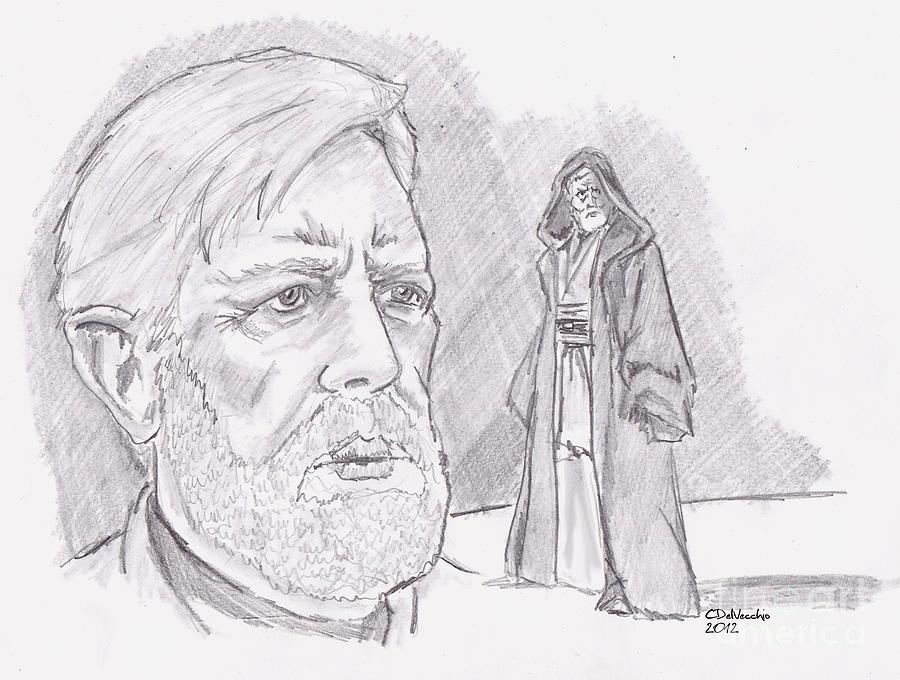 Ben Obi Wan Kenobi Drawing by Chris  DelVecchio
