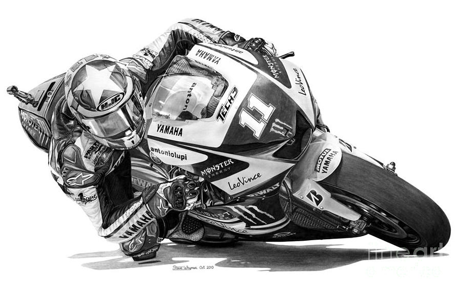 Ben Spies Rookie Year Drawing by Steven Whyman