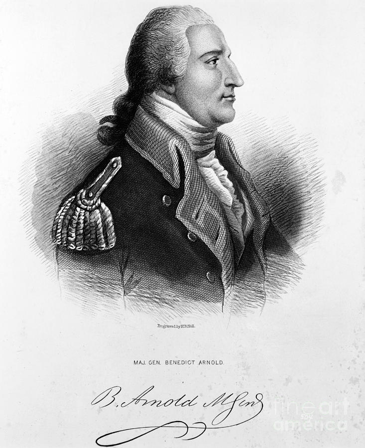 Engraving Photograph - Benedict Arnold, American Traitor by Omikron