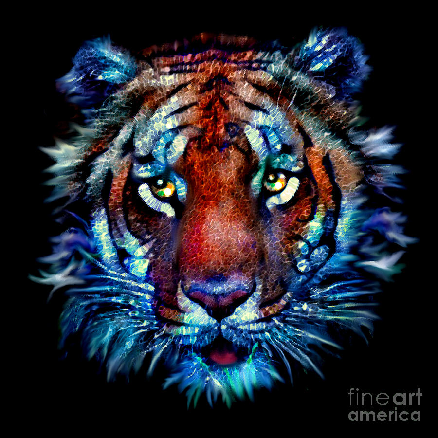 Bengal Tiger Portrait by Elinor Mavor