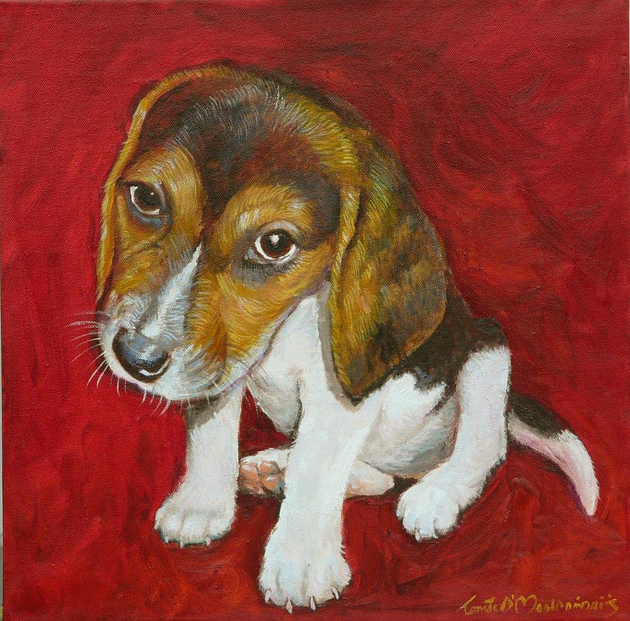 Dog Painting - Benni by Tomas OMaoldomhnaigh