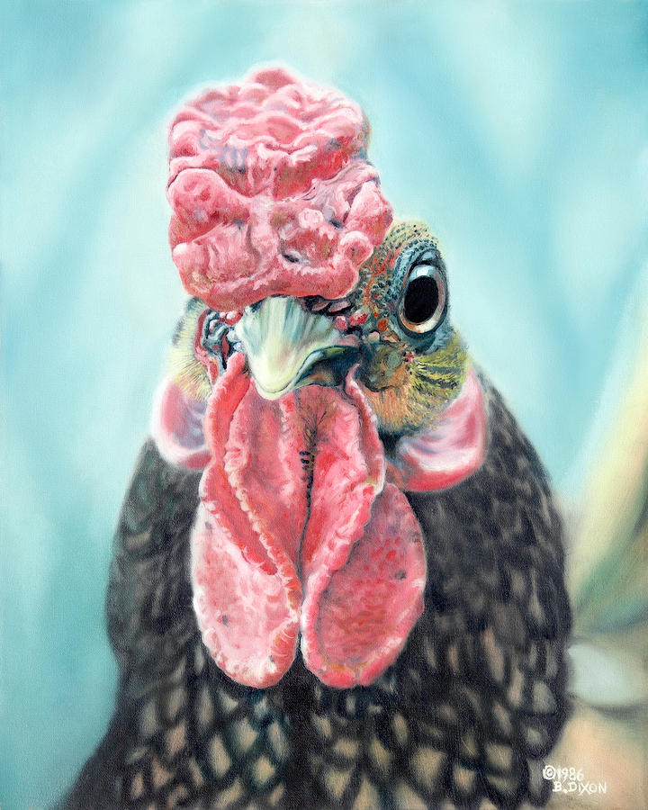 Chicken Painting - Benny The Bantam by Baron Dixon