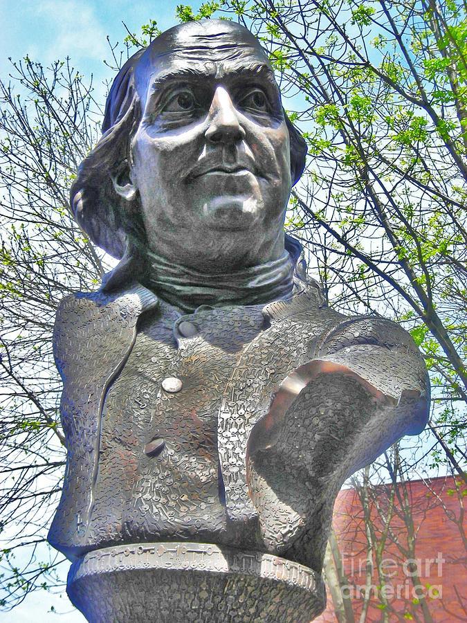Benjamin Franklin Photograph - Bens Bust by Snapshot Studio