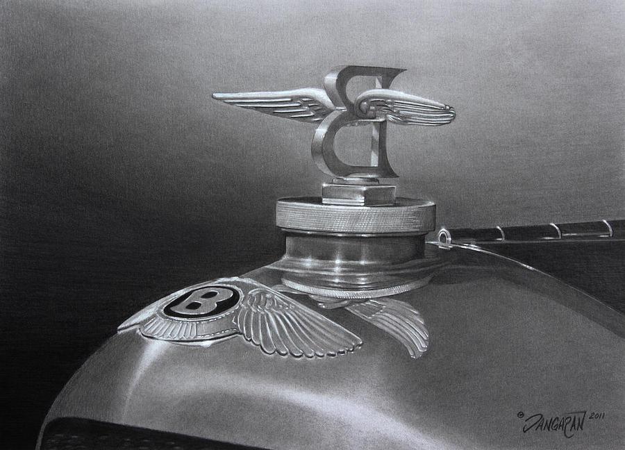 Graphite Drawing - Bentley Corsica Coupe  by Tim Dangaran