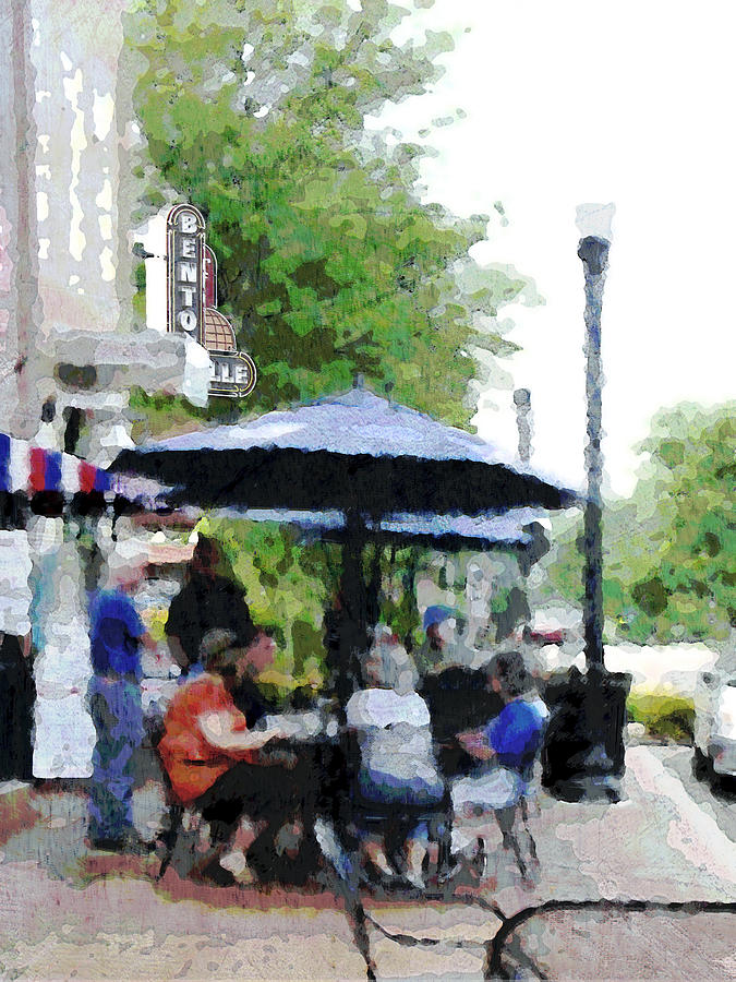 Bentonville Photograph - Bentonville On The Square by Ann Powell