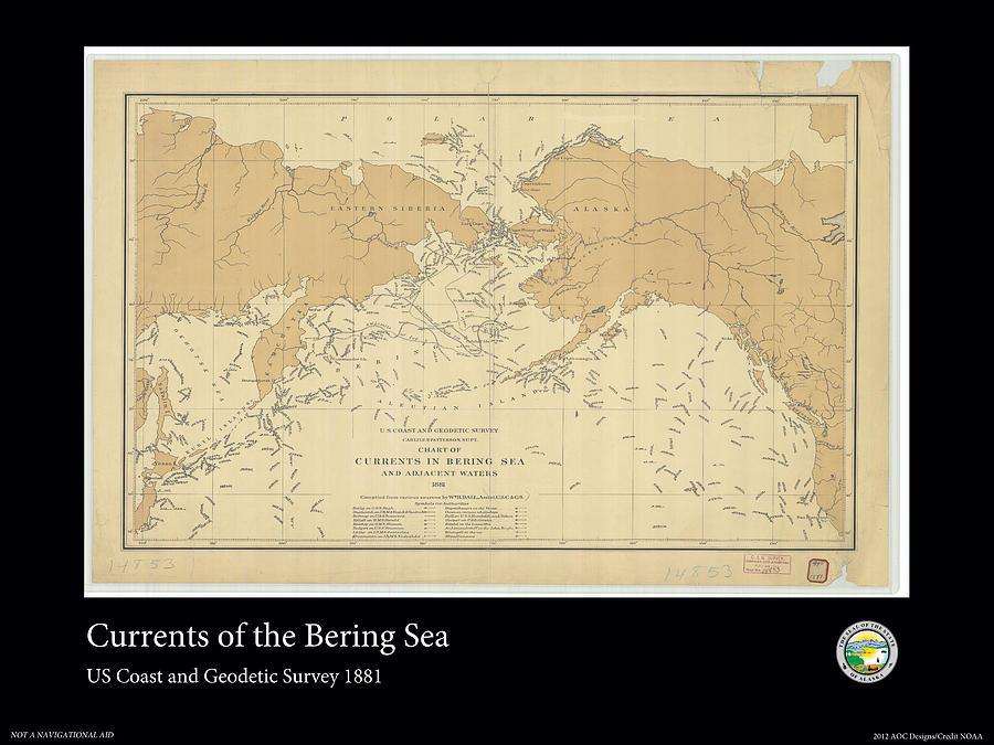 Bering Sea Photograph - Bering Sea Currents 1881 by Adelaide Images