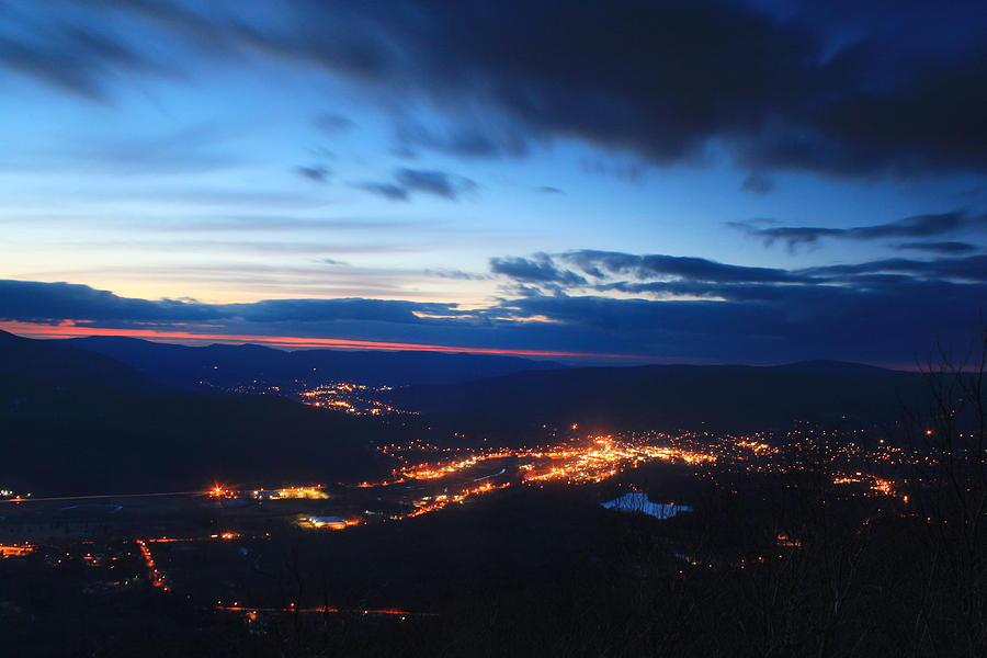 Berkshires Photograph - Berkshire Evening From Spruce Hill Savoy Mountain by John Burk