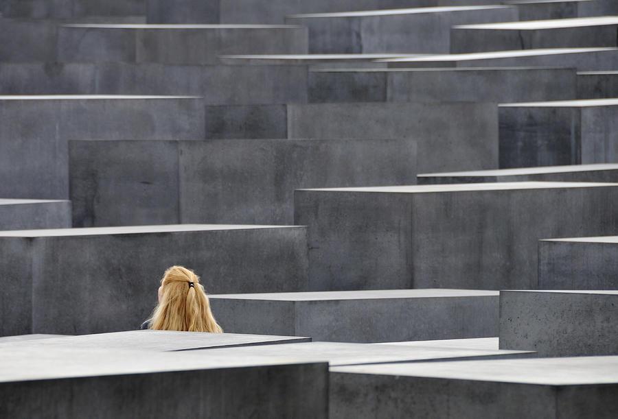 Holocaust Memorial Photograph - Berlin Germany Holocaust Memorial by Matthias Hauser
