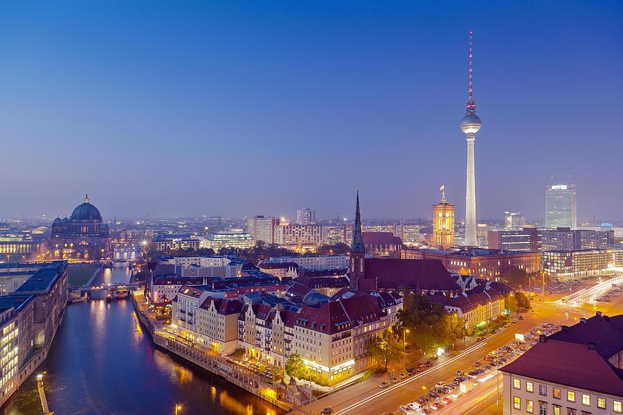 berlin skyline photograph by carsten schoenijahn. Black Bedroom Furniture Sets. Home Design Ideas