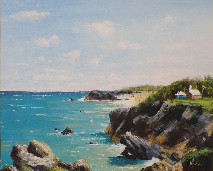 Seascape Painting - Bermuda Coast by Thomas Kearon