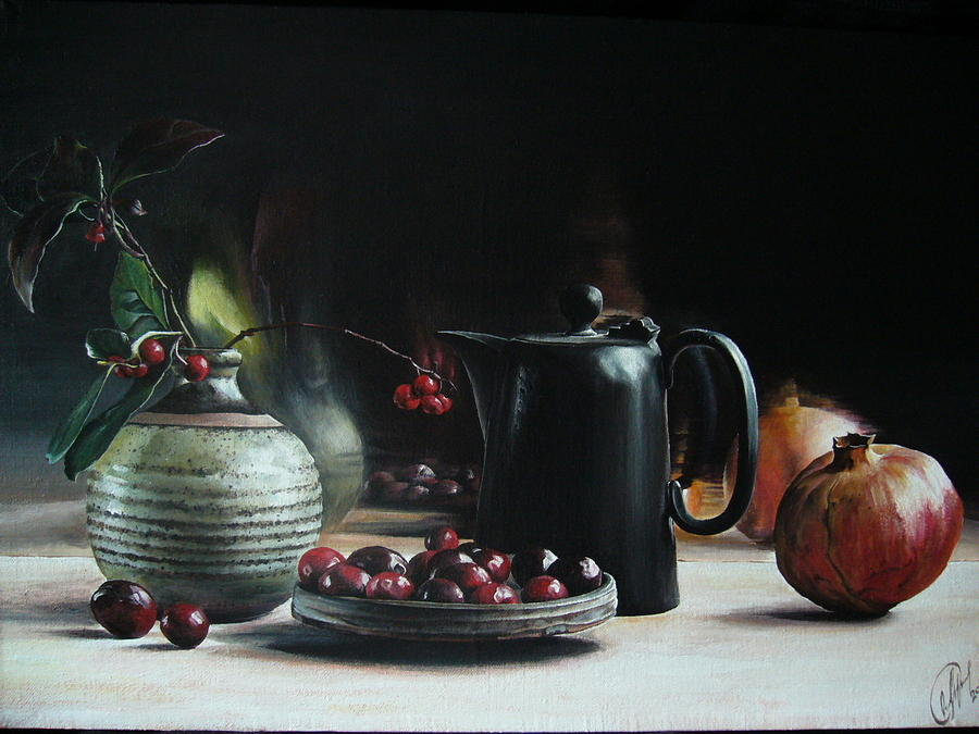 Still Life Painting - Berries by Oleg Dashevsky