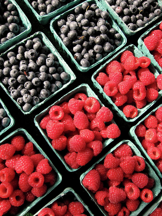 Vertical Photograph - Berry Baskets by Denise Taylor