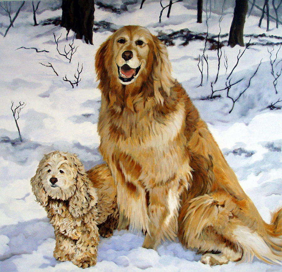 Dog Painting - Best Friends by Sandra Chase