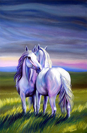 Equine Painting - Best Friends by Vivian Harder