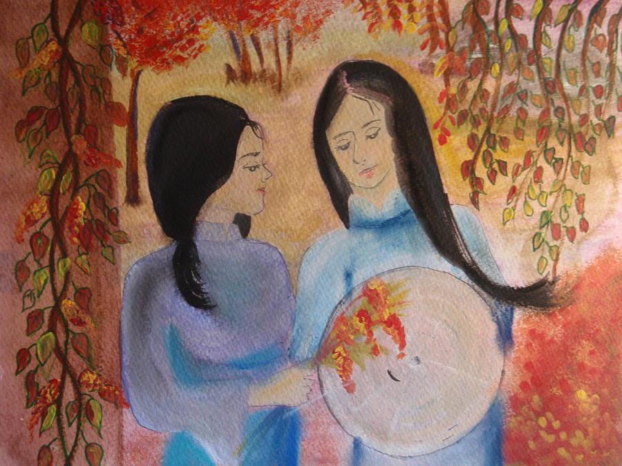 Best Friends  Painting by Yen Pham