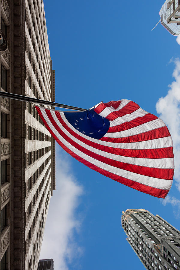 Banner Photograph - Betsy Ross Flag In Chicago by Semmick Photo