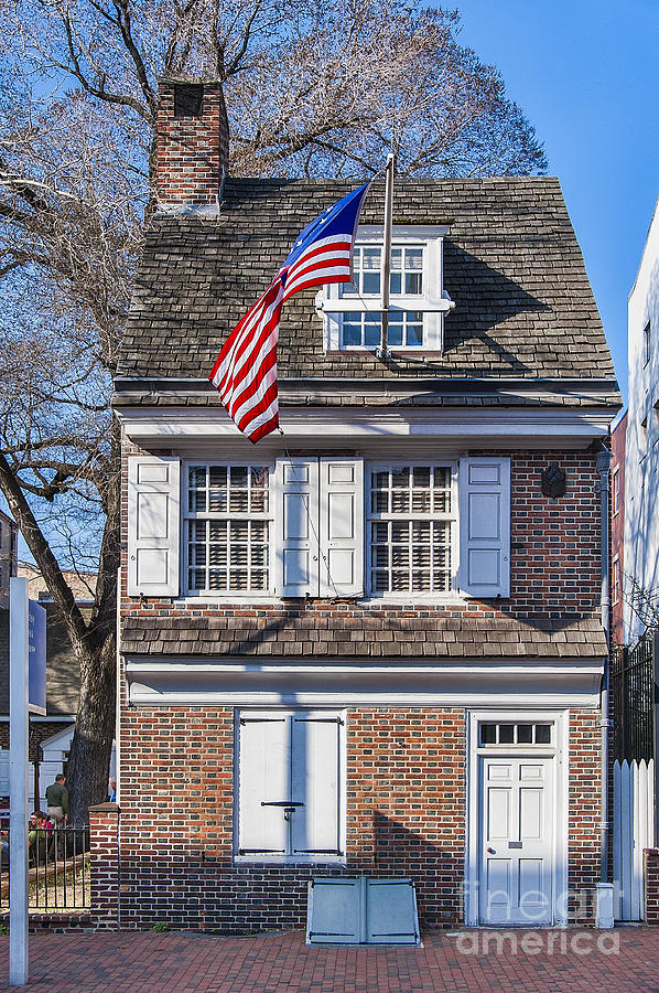 American Photograph - Betsy Ross House by John Greim