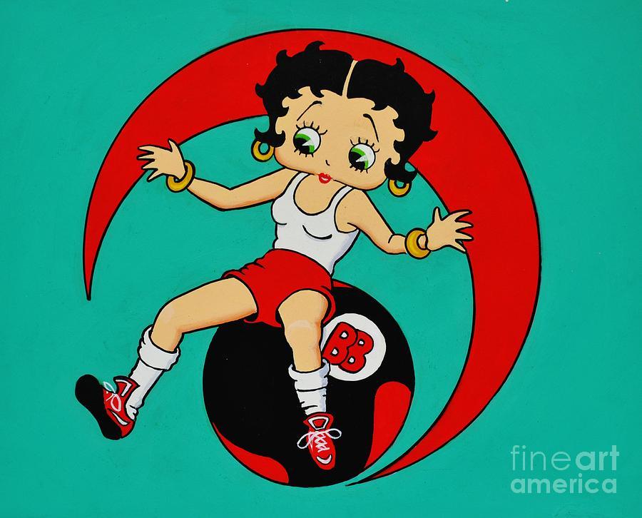 Betty Boop Painting - Betty Boop Excersizeing by Thomas Kolendra