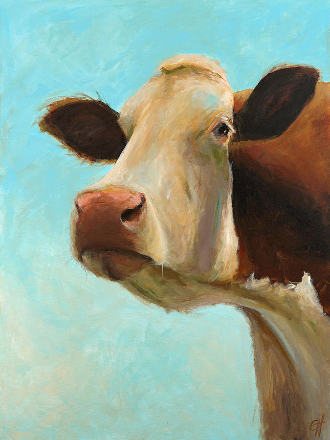 Cow Painting - Betty by Cari Humphry