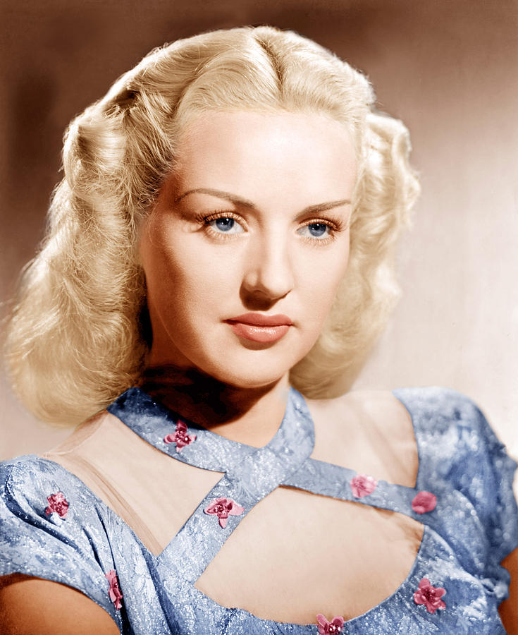 1940s Hairstyles Photograph - Betty Grable, Ca. 1947 by Everett