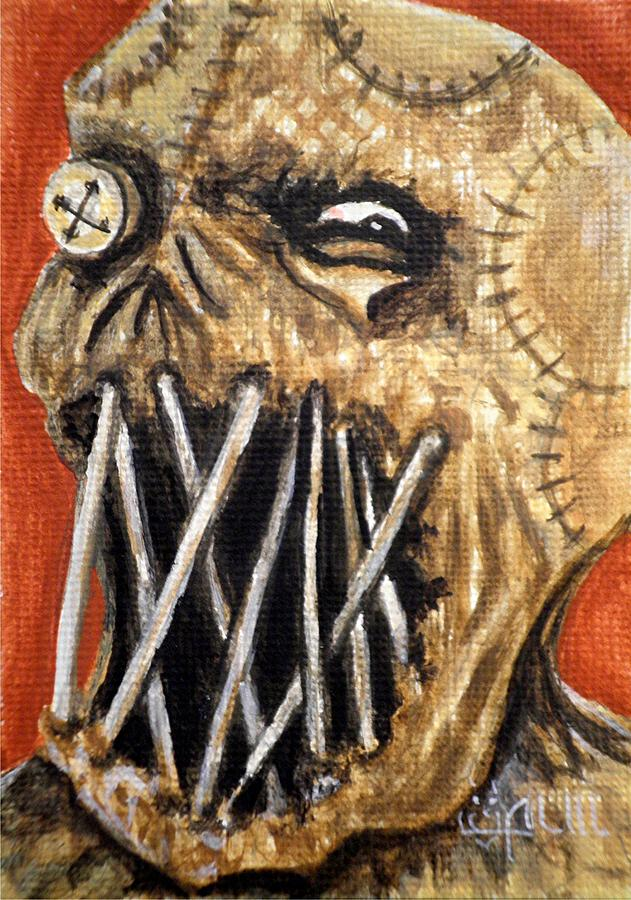 Scarecrow Painting - Beware The Fear by Al  Molina