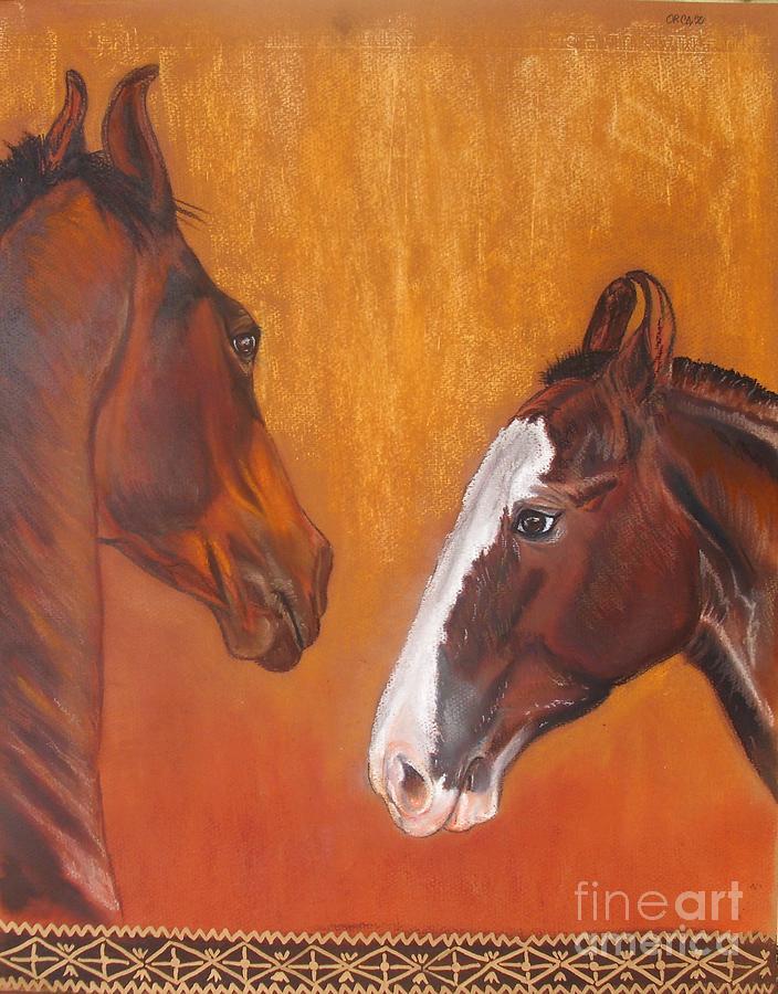 Horse Pastel - Beware by Zorka Velickovic