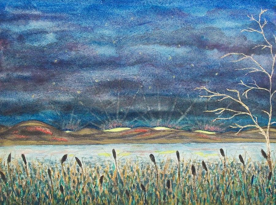 Landscape Painting - Beyond The Horizon by Jeanette Stewart
