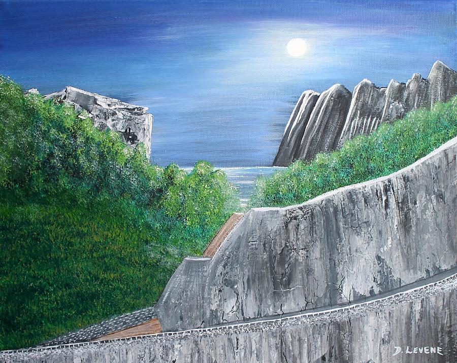 Rocks Painting - Beyond The Rock by Debbie Levene