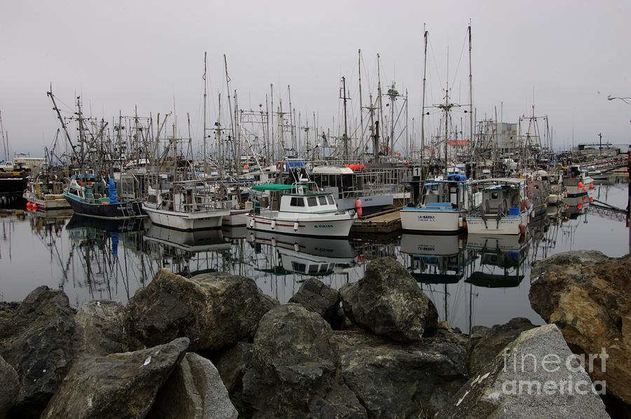 Fishing Boats Photograph - Beyond The Stones by Bob Christopher