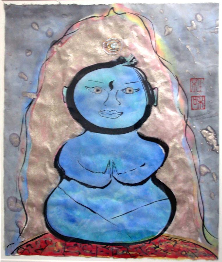 Budda Painting - Bhudda Nature - The Third Eye by Margaret Ann Johnson Wilmot