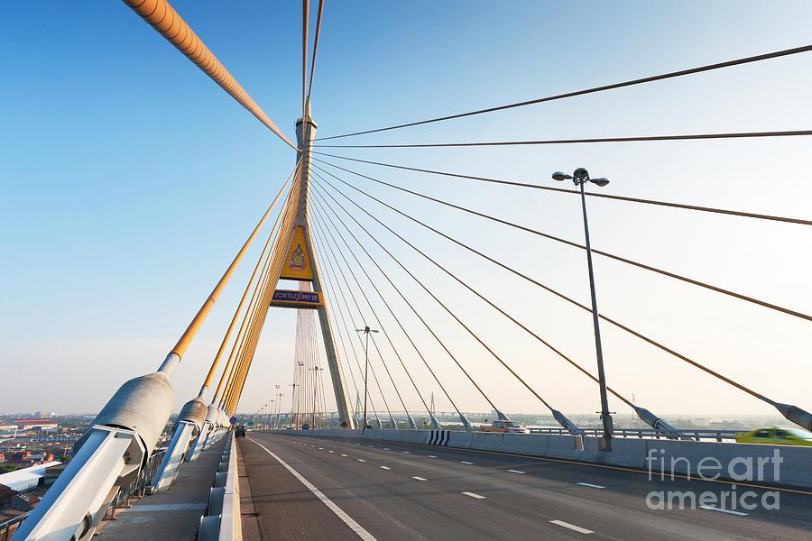 Architectural Photograph - Bhumipol Bridge by Atiketta Sangasaeng