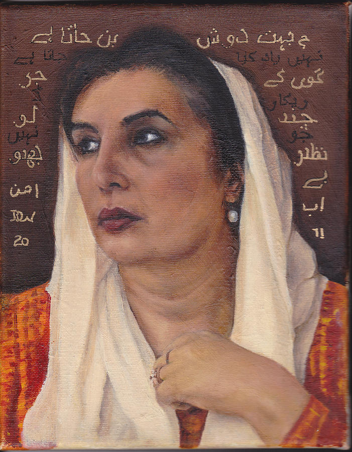 Benazir Painting - Bhutto by Denise Warren