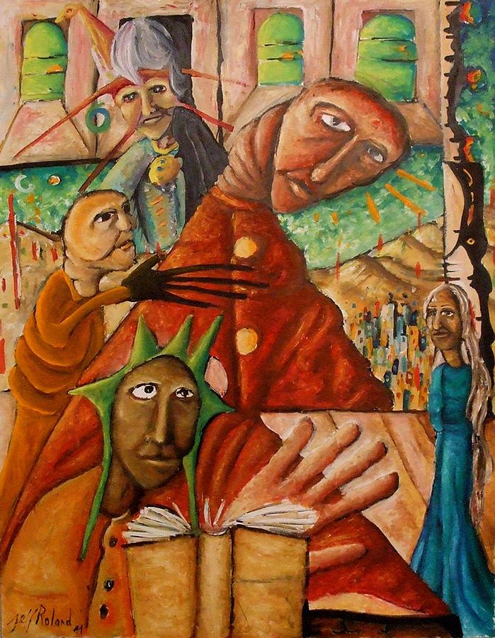 Bibliotheque Painting - Bibliotherapie by Jeff  Roland