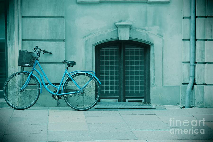 Bicycle Photograph - Bicycle Blues by Sophie Vigneault