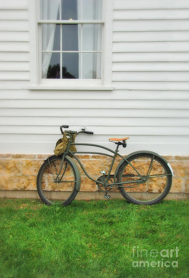 Bicycle Photograph - Bicycle By House by Jill Battaglia