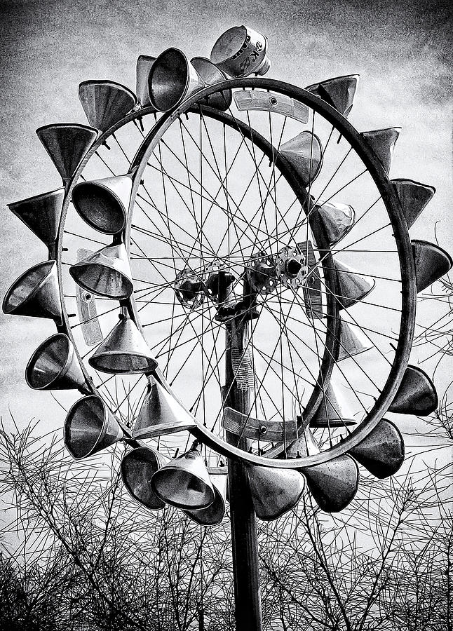Abandoned Photograph - Bicycle Wheel Sculpture by Ron Regalado