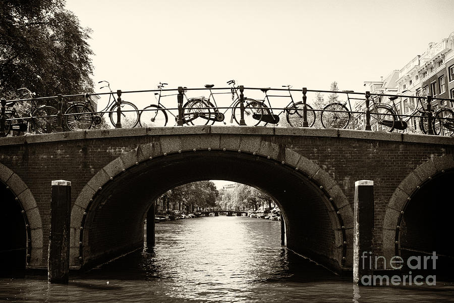 Bicycles Photograph - Bicycles Of Amsterdam by Leslie Leda