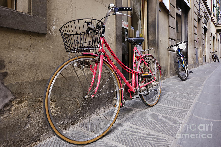 Apartment Photograph - Bicycles Parked In The Street by Jeremy Woodhouse