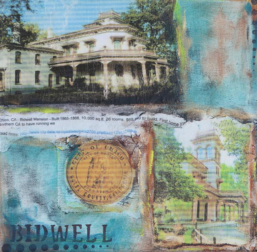 Bidwell Mixed Media - Bidwell Mansion by Robin Lee