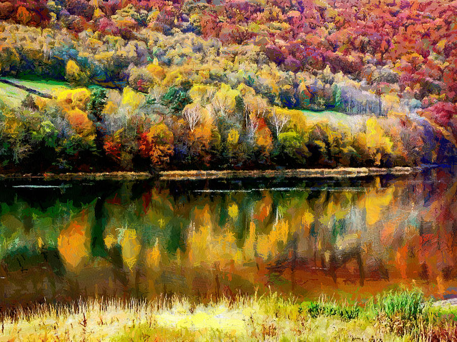 Autumn Digital Art - Bieszczady by Boguslaw Florjan