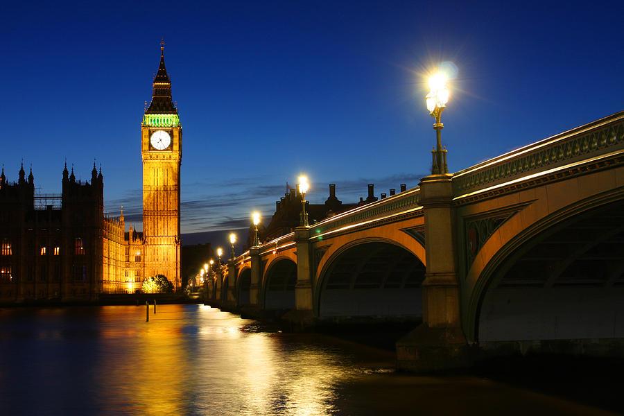 Big Photograph - Big Ben And Westminster Bridge by Dan Breckwoldt