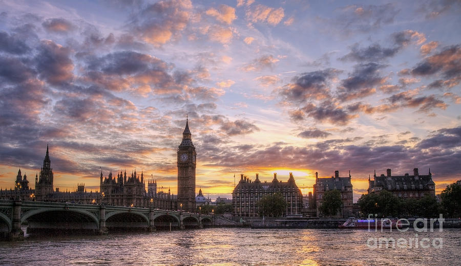 Palace Of Westminster Photograph - Big Ben London by Lee-Anne Rafferty-Evans
