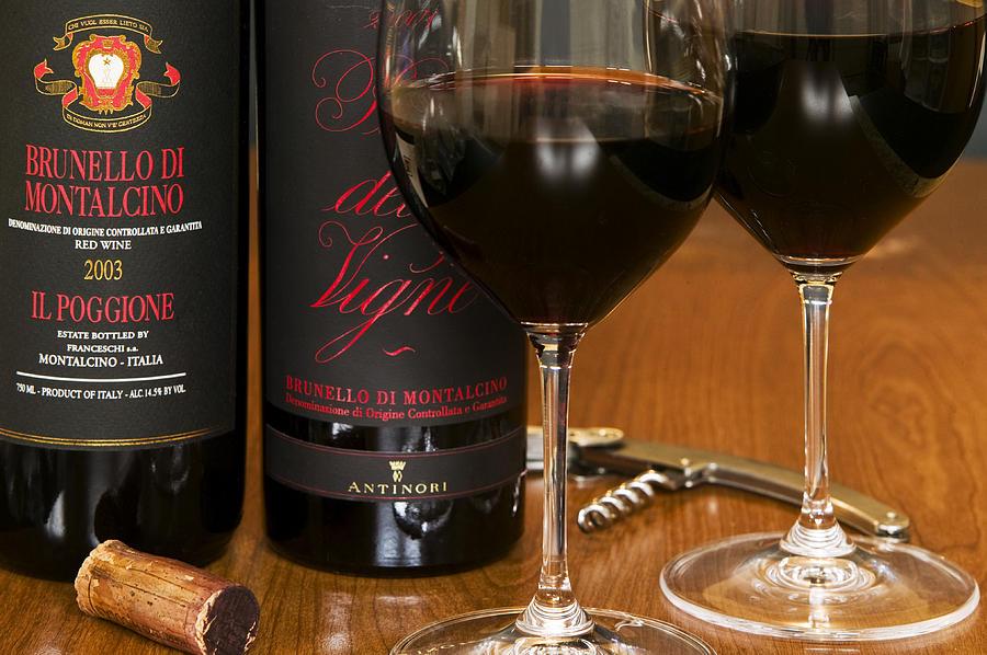 Wine Glasses Photograph - Big Brunellos by John Galbo