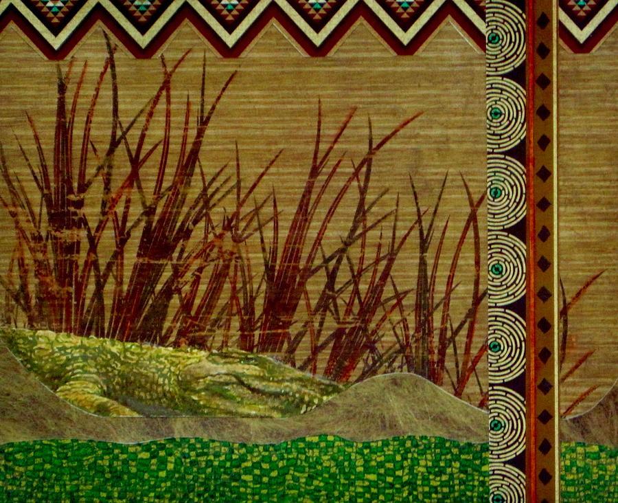 Crocodile Painting - Big Croc by David Raderstorf