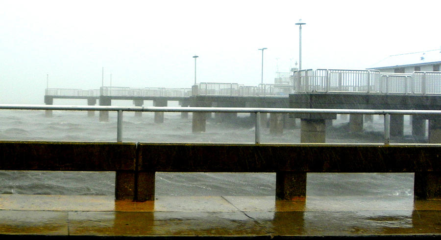Gulf Coast Photograph - Big Dock Tropical Storm by Sheri McLeroy