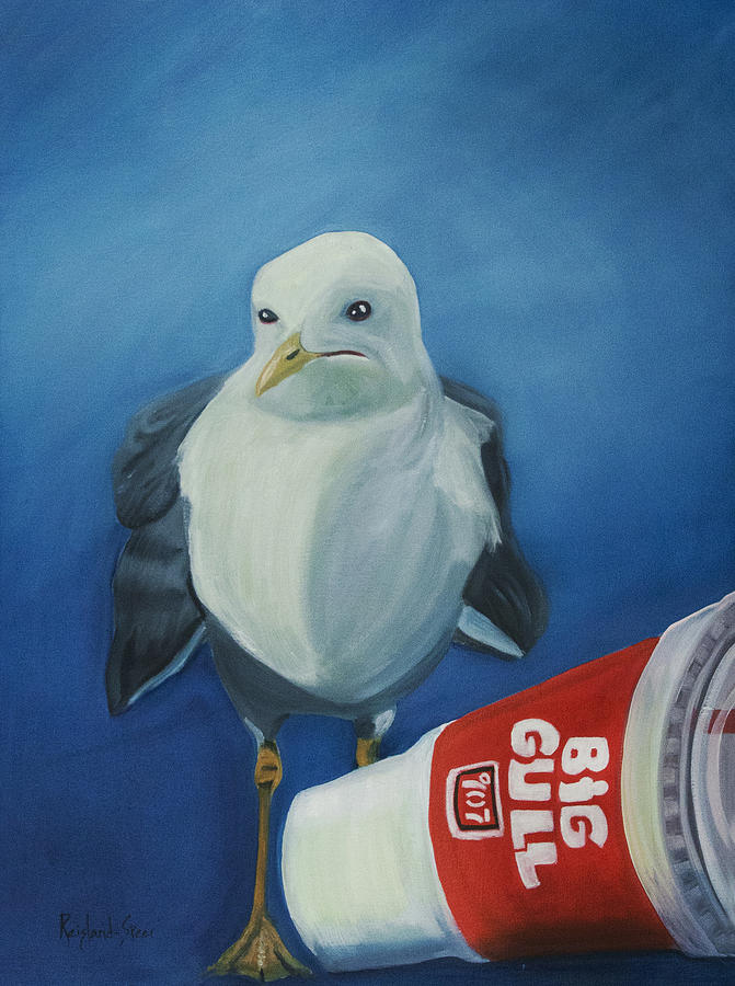 Gull Painting - Big Gull by Amy Reisland-Speer