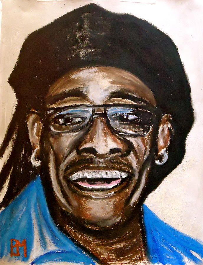 Clarence Clemons Painting - Big Man by Pete Maier