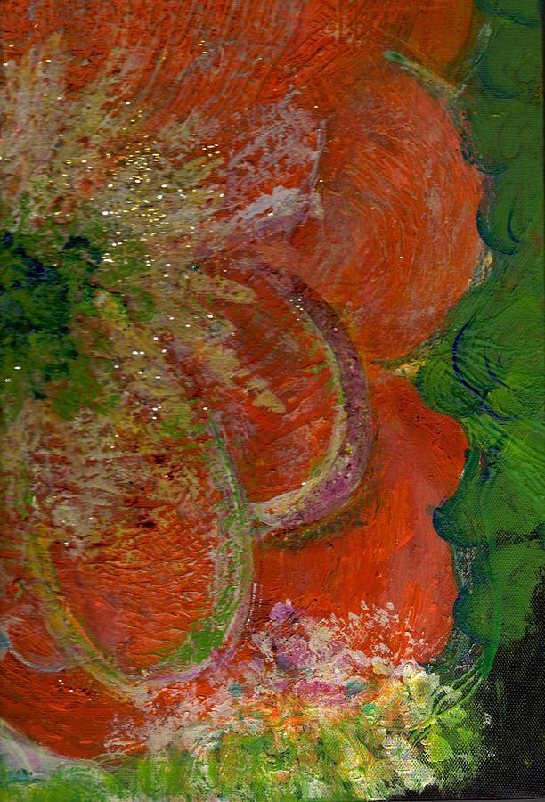 Orange Flower Painting - Big Orange Flower  by Anne-Elizabeth Whiteway