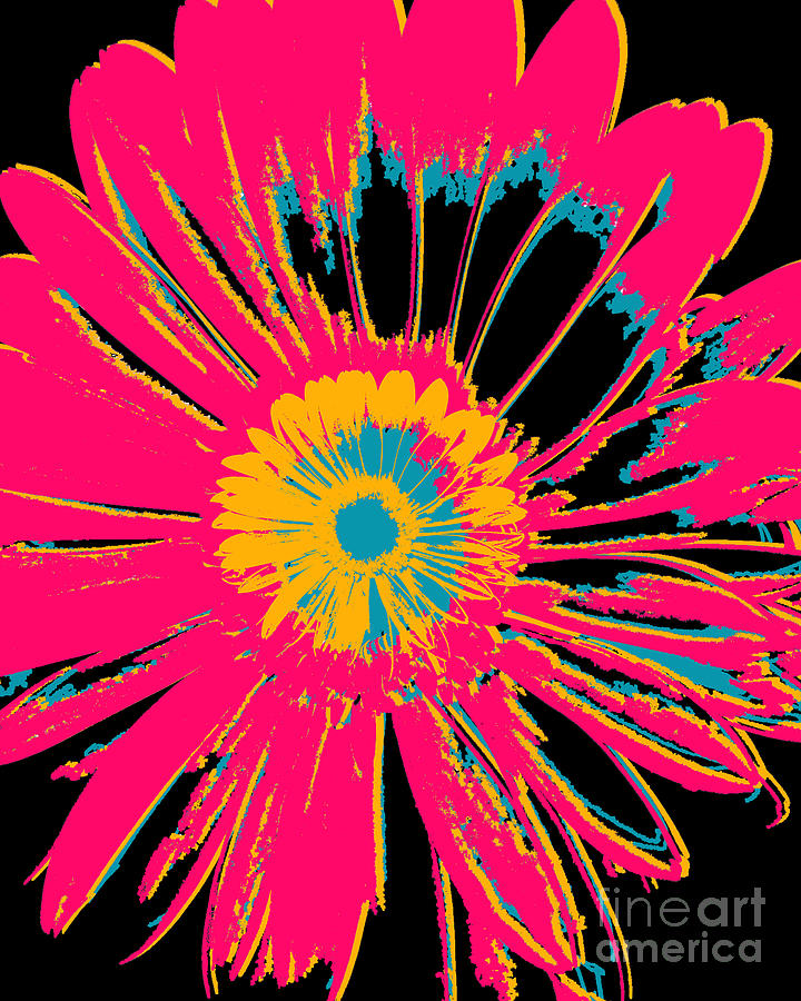 Floral Mixed Media - Big Pop Floral by Ricki Mountain